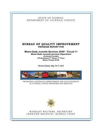 bureau of quality improvement - Florida Department of Juvenile Justice