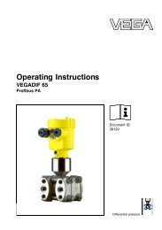 Operating Instructions - VEGADIF 65 - Profibus PA - Insatech