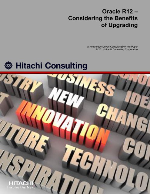 Oracle R12 - Hitachi Consulting