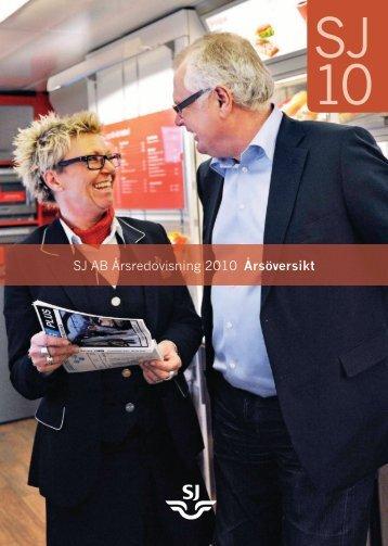 SJ AB Årsredovisning 2010 - Årsöversikt (pdf)