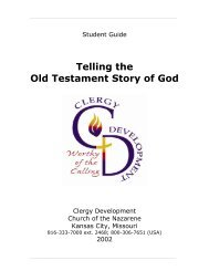 Telling the Old Testament Story of God - USA / Canada Region