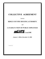 collective agreement - CUPE Local 408 - Canadian Union of Public ...