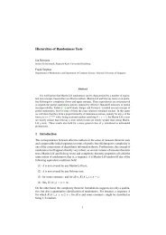 Hierarchies of Randomness Tests - Fakultät für Mathematik und ...