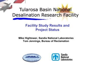 Facility Study Results and Project Status - Water Resources ...