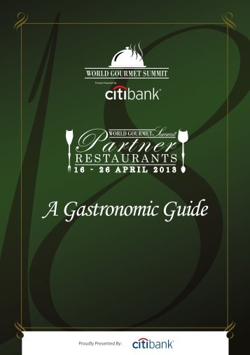 Download Partner Restaurants Booklet (PDF) - World Gourmet Summit