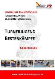 Turngau Mannheim - Gesamtliste - Badischer Turner Bund