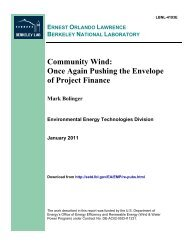 Community Wind - Electricity Market and Policy - Lawrence Berkeley ...