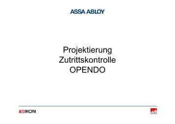 Projektierung Zutrittskontrolle OPENDO - Ikon