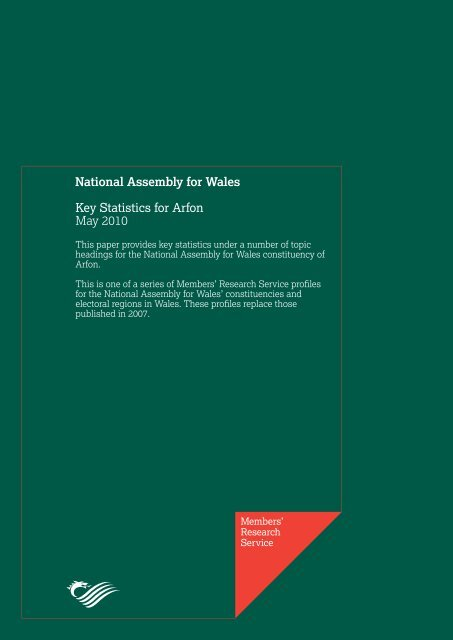 Key Statistics for Arfon - National Assembly for Wales