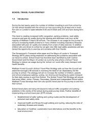 School Travel Plan implementation schedule - Waltham Forest Council