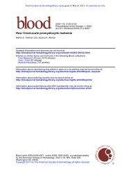 How I treat acute promyelocytic leukemia