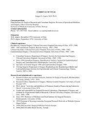 CURRICULUM VITAE Ansgar O. Aasen, MD Ph.D ... - Ous-research.no