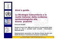 Alcol e guida. La Strategia Comunitaria e la realtà italiana - EpiCentro