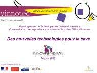 Des nouvelles technologies pour la cave (pdf - Inra