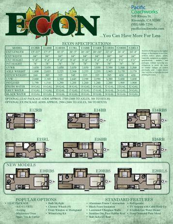 Econ Brochure - Pacific Coachworks, Inc.
