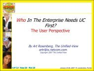 Who In The Enterprise Needs UC First? - UCStrategies.com