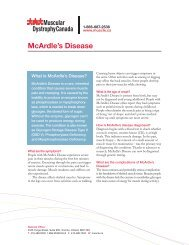 McArdle's Disease - Muscular Dystrophy Canada