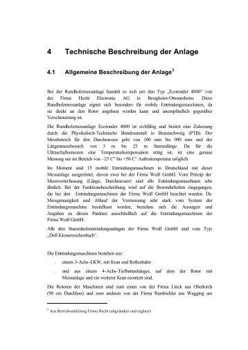 4 Technische Beschreibung der Anlage - Weiß GmbH Holzentrindung