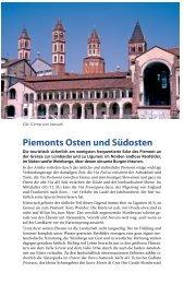 Piemonts Osten und Südosten