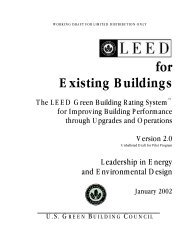 for Existing Buildings - US Green Building Council