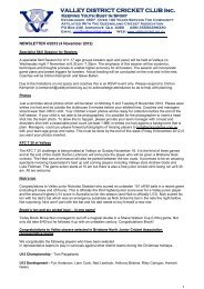 Newsletter 4 - 2 November 2012 - Queensland Cricket