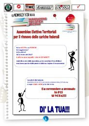 Newsletter n.11 - 2012 - Federazione Ciclistica Italiana