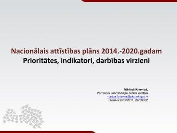 Nacionālais attīstības plāns 2014.-2020.gadam Prioritātes ... - ES fondi