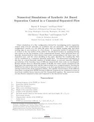 Numerical Simulations of Synthetic Jet - The George Washington ...