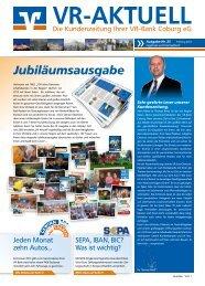 Kundenzeitung - aktuelle Ausgabe - VR-Bank Coburg eG