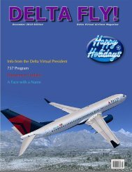 Info from the Delta Virtual President 737 Program Department ...
