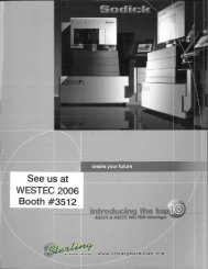 Sodick AQ327L and AQ537L Wire EDM Brochures - Sterling ...