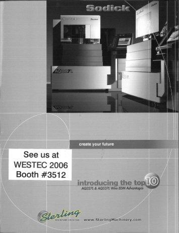 Sodick AQ327L and AQ537L Wire EDM Brochures - Sterling ...