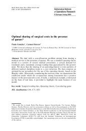 Optimal sharing of surgical costs in the presence of queues*