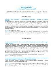 Scarica il PDF del programma - Unicef