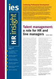 IES HR Insight no. 5 - The Institute for Employment Studies