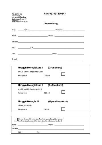 Fax Anmeldung UGK Mainz Herbst_2013 - comaug.de