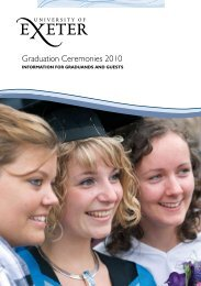 Graduation Information - Academic Services - University of Exeter
