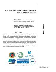 the impacts of sea-level rise on the california coast - Pacific Institute