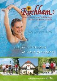 Gastgeberverzeichnis und Preise 2012 - Kirchham