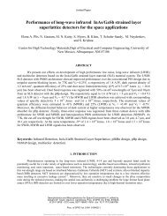Performance of long-wave infrared InAs/GaSb strained layer ...