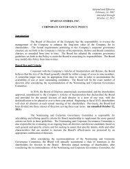 909497_20 Spartan Corporate Governance Policy - SPTN   Spartan ...