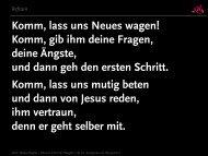 Komm, lass uns Neues wagen esb - Evangelischer Sängerbund eV