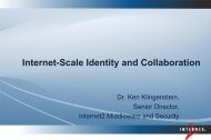 Collaboration Tools and Identities - Unicore