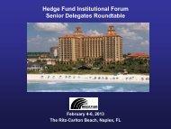 Hedge Fund Institutional Forum Senior Delegates Roundtable ...