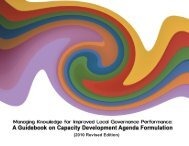 A Guidebook on Capacity Development Agenda Formulation