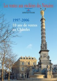 19ème arrondissement - Ventes aux enchères des notaires