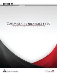 Commissaire aux armes à feu - Rapport de 2009 - YWCA Canada