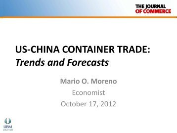 US-CHINA CONTAINER TRADE: Trends and Forecasts