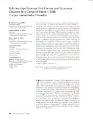 Relationships Between Risk Factors and Treatment Outcome in a ...