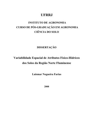 File - Instituto de Agronomia - UFRRJ